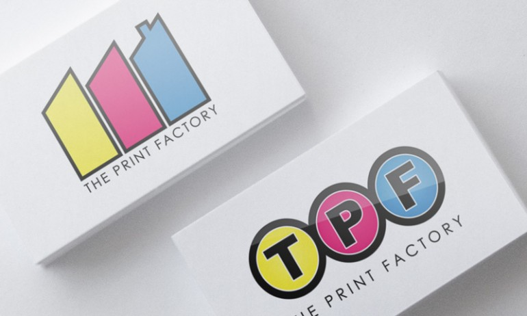 The Print Factory business cards