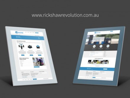Rickshaw Revolution website mockups