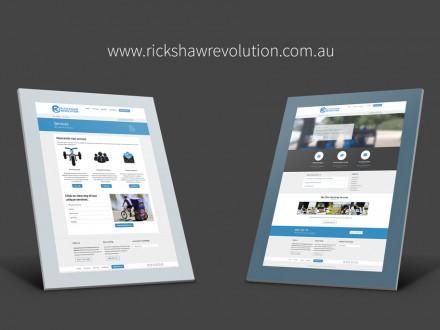 Rickshaw Revolution website mockups