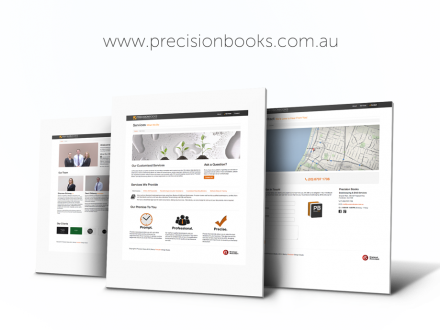 Precision Books website design