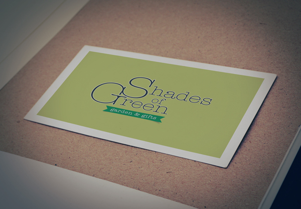Shades of Green logo design mockup
