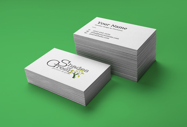 Shades of Green business card mockup