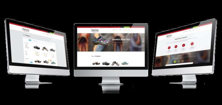 eCommerce website for Sanita Australia