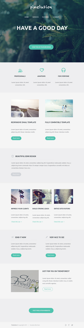 Professional Email Templates | Digital Design | Pixelution