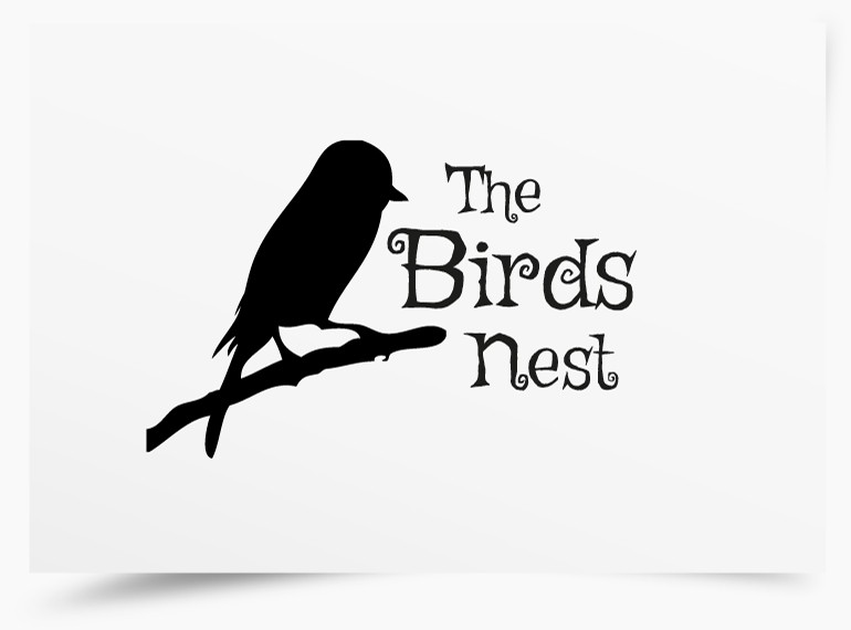 The Birds Nest Funky Logo Design by Pixelution