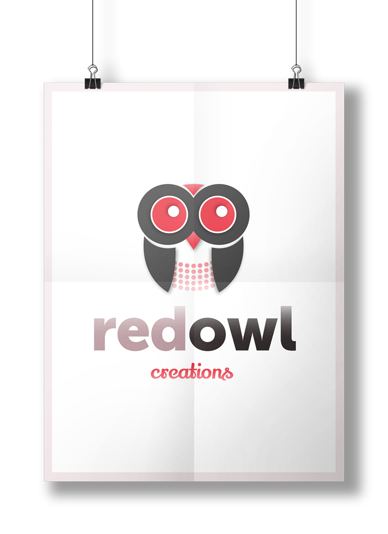 Red Owl Creations Logo Design by Pixelution