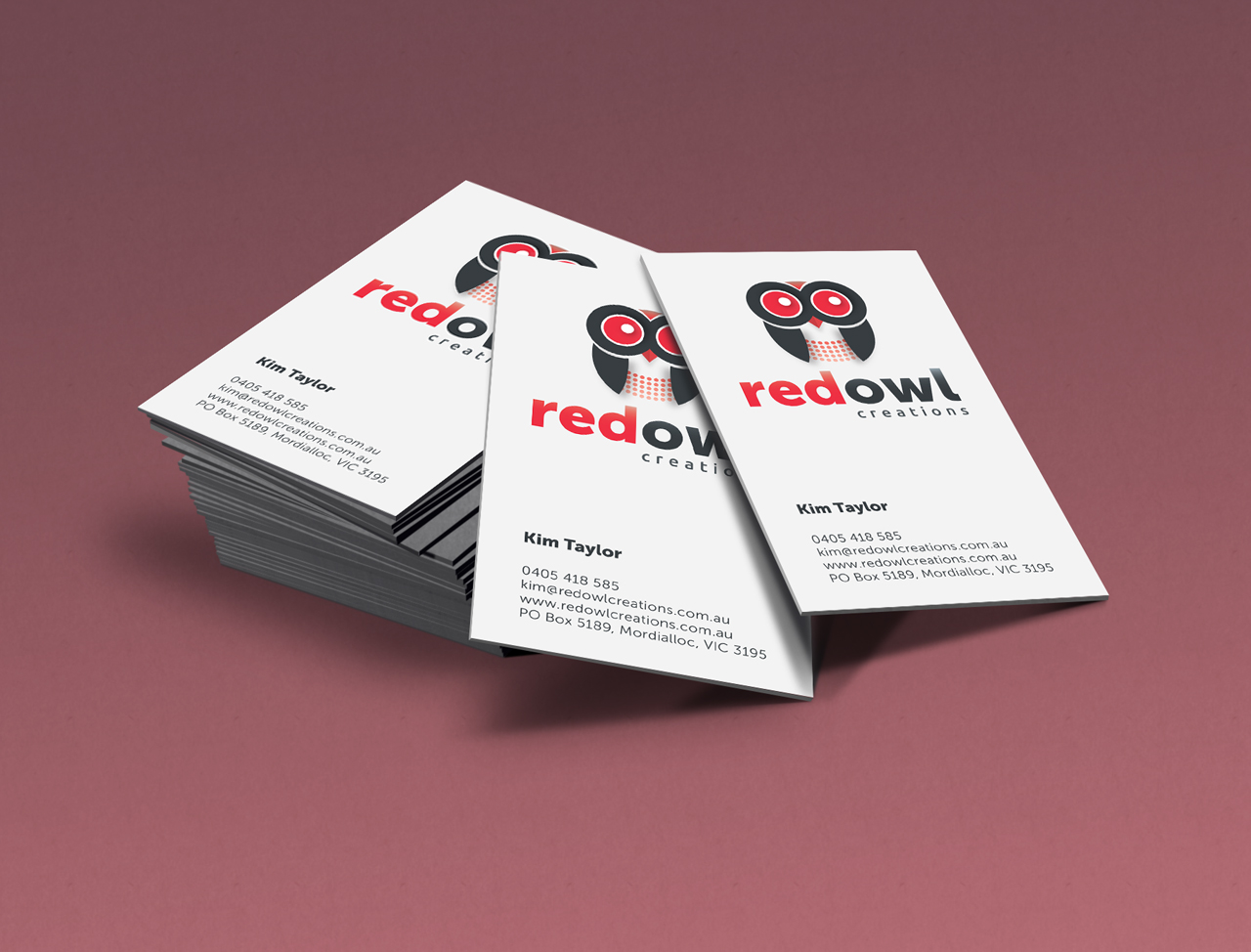 Red Owl Creations | Professional business cards | Pixelution