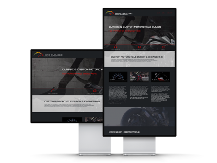 Exciting & Engaging Website Design - Motorcycle Website Example